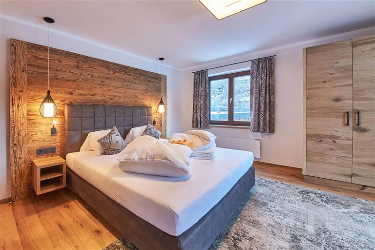 Stylish double room at the Hubertushof
